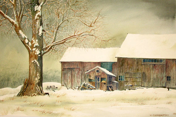 Barn-Tree WaltPainting